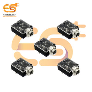 5 Pin 3.5mm Stereo Audio Jack Socket PCB Panel Mount With Nut PJ-324M for Headphone (5PCS)